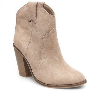 NWT |  Western Bootie Taupe/Tan 7.5